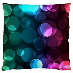 Deep Bubble Art Large Cushion Case (two Sided)  by Colorfulart23