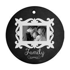 Chalkboard Round Ornament  2 Sides By Mikki   Round Ornament (two Sides)   Y1ur6ioh603l   Www Artscow Com Back