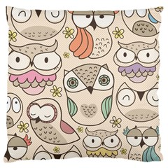 Owl Pattern Large Cushion Case (single Sided)  by Contest1771913