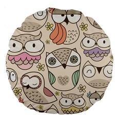 Owl pattern 18  Premium Round Cushion  by Contest1771913