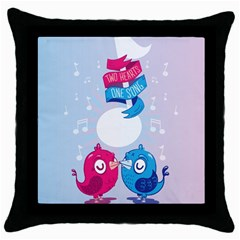 Love Birds Black Throw Pillow Case by Contest1771648
