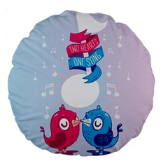 Love Birds 18  Premium Round Cushion  by Contest1771648