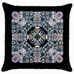 Stained Glass Black Throw Pillow Case by Contest1848470