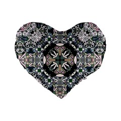 Stained Glass 16  Premium Heart Shape Cushion  by Contest1848470