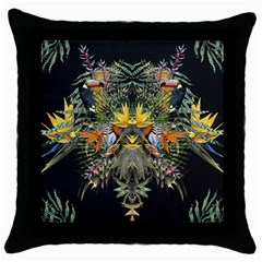 Jungle Fever Black Throw Pillow Case