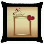 My Sweetheart Throw Pillow - Throw Pillow Case (Black)