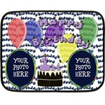 1st Birthday Mini Fleece Blanket - Fleece Blanket (Mini)