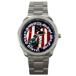 Land Of The Free Home Of The Brave Sport Metal Watch