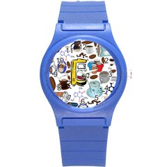 Just Bring Me Coffee Plastic Sport Watch (small) by StuffOrSomething
