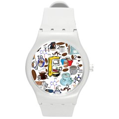 Just Bring Me Coffee Plastic Sport Watch (medium) by StuffOrSomething