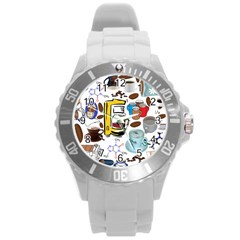 Just Bring Me Coffee Plastic Sport Watch (large) by StuffOrSomething