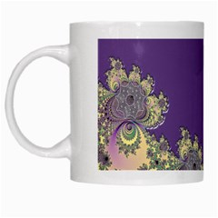 Purple Symbolic Fractal White Coffee Mug by UROCKtheWorldDesign