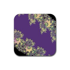 Purple Symbolic Fractal Drink Coasters 4 Pack (square) by UROCKtheWorldDesign