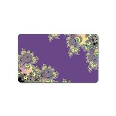 Purple Symbolic Fractal Magnet (name Card)