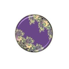 Purple Symbolic Fractal Golf Ball Marker (for Hat Clip) by UROCKtheWorldDesign