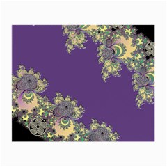Purple Symbolic Fractal Glasses Cloth (small) by UROCKtheWorldDesign