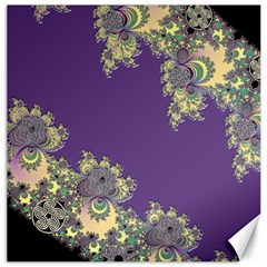 Purple Symbolic Fractal Canvas 12  X 12  (unframed) by UROCKtheWorldDesign