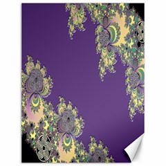 Purple Symbolic Fractal Canvas 12  X 16  (unframed)