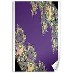Purple Symbolic Fractal Canvas 20  X 30  (unframed) by UROCKtheWorldDesign