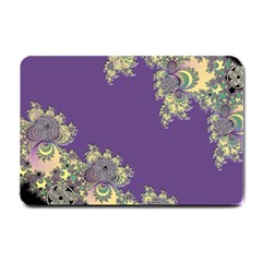 Purple Symbolic Fractal Small Door Mat by UROCKtheWorldDesign