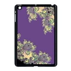 Purple Symbolic Fractal Apple Ipad Mini Case (black) by UROCKtheWorldDesign