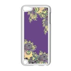 Purple Symbolic Fractal Apple Ipod Touch 5 Case (white) by UROCKtheWorldDesign