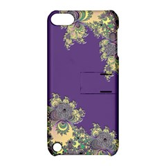 Purple Symbolic Fractal Apple Ipod Touch 5 Hardshell Case With Stand by UROCKtheWorldDesign