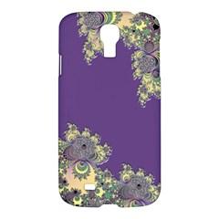 Purple Symbolic Fractal Samsung Galaxy S4 I9500/i9505 Hardshell Case by UROCKtheWorldDesign
