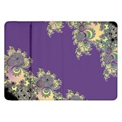 Purple Symbolic Fractal Samsung Galaxy Tab 8 9  P7300 Flip Case by UROCKtheWorldDesign