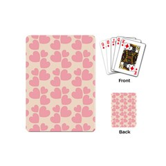 Cream And Salmon Hearts Playing Cards (Mini)