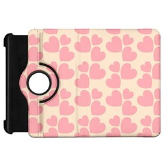 Cream And Salmon Hearts Kindle Fire Hd 7  (1st Gen) Flip 360 Case