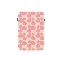 Cream And Salmon Hearts Apple Ipad Mini Protective Sleeve by Colorfulart23