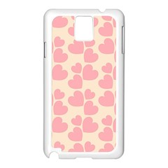 Cream And Salmon Hearts Samsung Galaxy Note 3 Case (white) by Colorfulart23