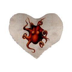 Here There Be Monsters 16  Premium Heart Shape Cushion  by Contest1657721