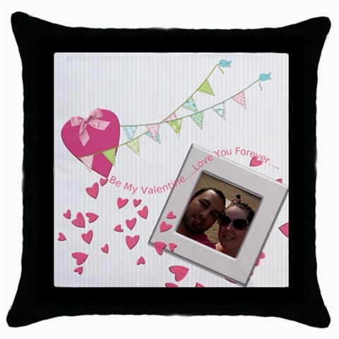 By Chatting   Throw Pillow Case (black)   Unqq0qxtzcjp   Www Artscow Com Front