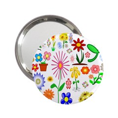 Summer Florals Handbag Mirror (2.25 ) by StuffOrSomething