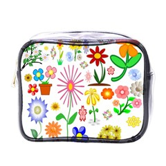 Summer Florals Mini Travel Toiletry Bag (one Side)