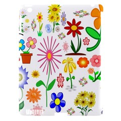 Summer Florals Apple iPad 3/4 Hardshell Case (Compatible with Smart Cover) by StuffOrSomething