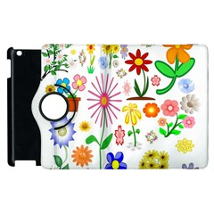 Summer Florals Apple Ipad 3/4 Flip 360 Case by StuffOrSomething