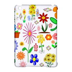 Summer Florals Apple iPad Mini Hardshell Case (Compatible with Smart Cover)