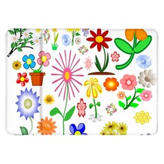 Summer Florals Samsung Galaxy Tab 8 9  P7300 Flip Case by StuffOrSomething