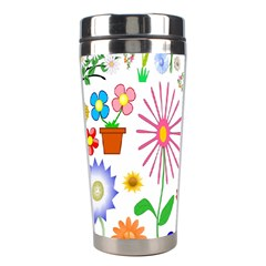 Summer Florals Stainless Steel Travel Tumbler by StuffOrSomething
