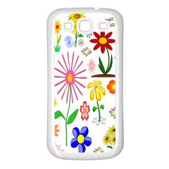 Summer Florals Samsung Galaxy S3 Back Case (white) by StuffOrSomething