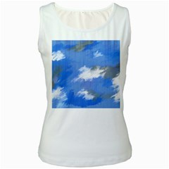 Abstract Clouds Women s Tank Top (white)