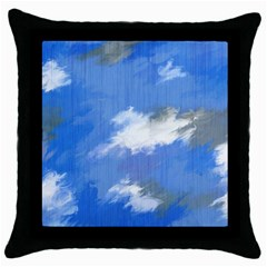 Abstract Clouds Black Throw Pillow Case by StuffOrSomething