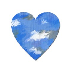 Abstract Clouds Magnet (heart) by StuffOrSomething