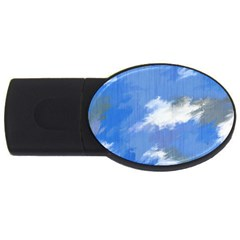 Abstract Clouds 2gb Usb Flash Drive (oval) by StuffOrSomething