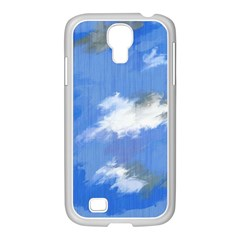 Abstract Clouds Samsung Galaxy S4 I9500/ I9505 Case (white) by StuffOrSomething