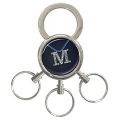M 3-Ring Key Chain by PSStore