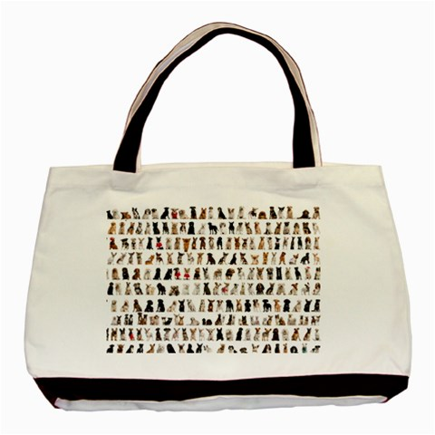 Dogs By Divad Brown   Basic Tote Bag   2x2phpsnzme9   Www Artscow Com Front
